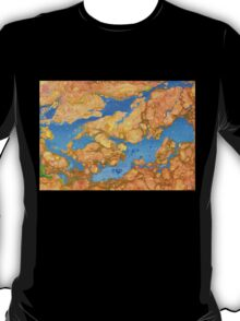 Gold Blue Marble T-Shirt