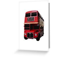 Iconic Red Routemaster Bus Greeting Card