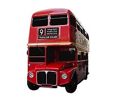 Iconic Red Routemaster Bus Photographic Print
