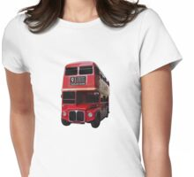 Iconic Red Routemaster Bus Womens Fitted T-Shirt