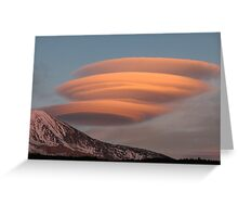 Lenticular Stack on Mt. Adams Greeting Card