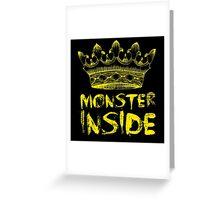 Monster Inside Greeting Card
