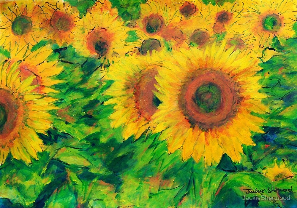 Arles Sunflowers by JackieSherwood