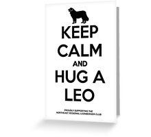 NRLC Keep Calm Leo Greeting Card