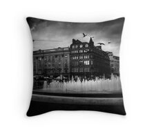 Manchester's Picadilly Gardens Throw Pillow