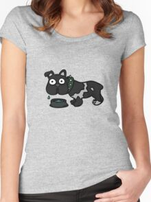 Dog Drinking Water Women's Fitted Scoop T-Shirt