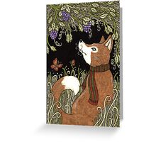 The Fox and the Grapes Greeting Card