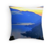 Columbia Gorge in pastels Throw Pillow