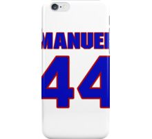 National football player Marquand Manuel jersey 44 iPhone Case/Skin