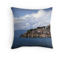 Lake Ohrid, Macedonia Throw Pillow