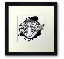 New York City drivers black and white pen ink surreal drawing Framed Print