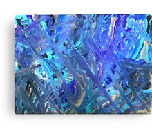 Swerving in Blue Canvas Print