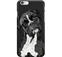 Black and White Boxer Art iPhone Case/Skin