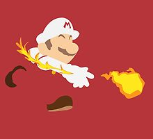 Simplistic Fire Mario by NSTY
