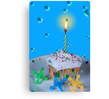 Bubble Birthday  Canvas Print