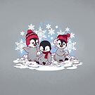 Snow Penguins by dooomcat