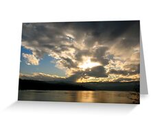Columbia River Cloudscape Greeting Card