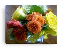 Bright & Colorful Flower Arrangement Canvas Print