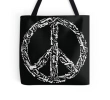 Weapon Peace black Tote Bag