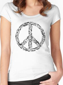 Weapon Peace white Women's Fitted Scoop T-Shirt