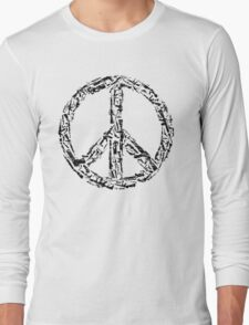 Weapon Peace white Long Sleeve T-Shirt