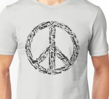 Weapon Peace white Unisex T-Shirt