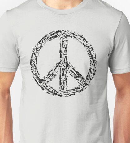 Weapon Peace white Unisex T-Shirt