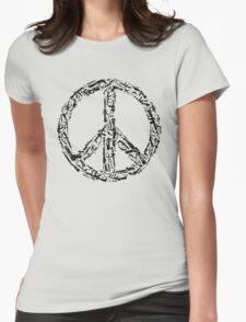 Weapon Peace white Womens Fitted T-Shirt