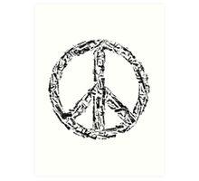 Weapon Peace white Art Print