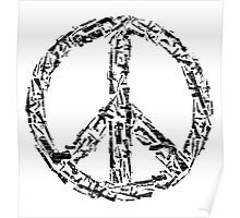 Weapon Peace white Poster