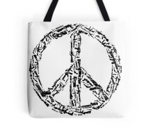 Weapon Peace white Tote Bag