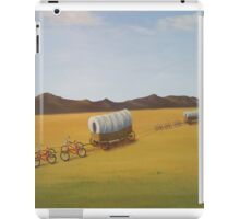 Substitutes: Bicycles pulling Conestogas across the prairie iPad Case/Skin
