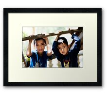 Brothers Framed Print