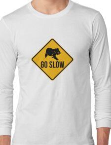 Go slow, koala sign, for easy people.  Long Sleeve T-Shirt