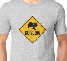 Go slow, koala sign, for easy people.  Unisex T-Shirt