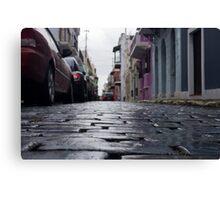Blue Cobblestone of San Juan Canvas Print