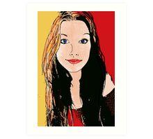 Digital Amy-lee Art Print