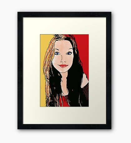 Digital Amy-lee Framed Print