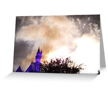 Castle Explosion Greeting Card