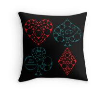 Suits of Shadowhunting Throw Pillow