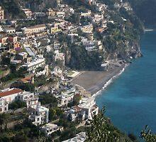 View of Positano by Kat Meezan