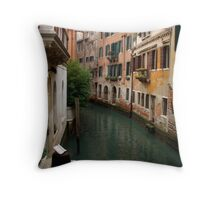 Venice Canal 2 Throw Pillow