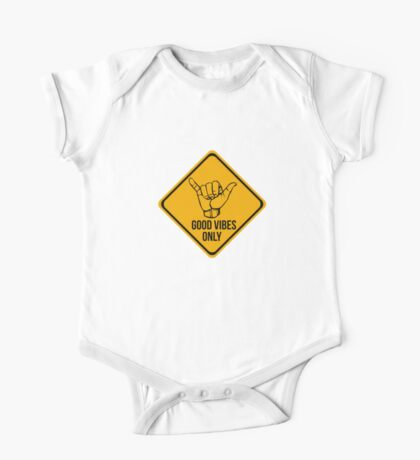 Cool surf - Funny warning sign One Piece - Short Sleeve