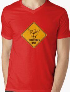 Cool surf - Funny warning sign Mens V-Neck T-Shirt