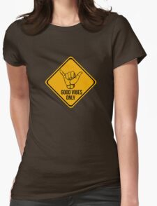 Cool surf - Funny warning sign Womens Fitted T-Shirt