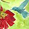 Humming Bird by Dawn B Davies-McIninch