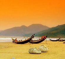 China Beach Boats by Katewah