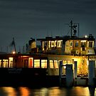 Newcastle to Stockton Ferry at Night - NSW Australia by Bev Woodman