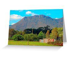 Corrugated Iron Mansion,  Wilmot ,Tasmania Australia Greeting Card