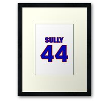 National football player Ivory Sully jersey 44 Framed Print